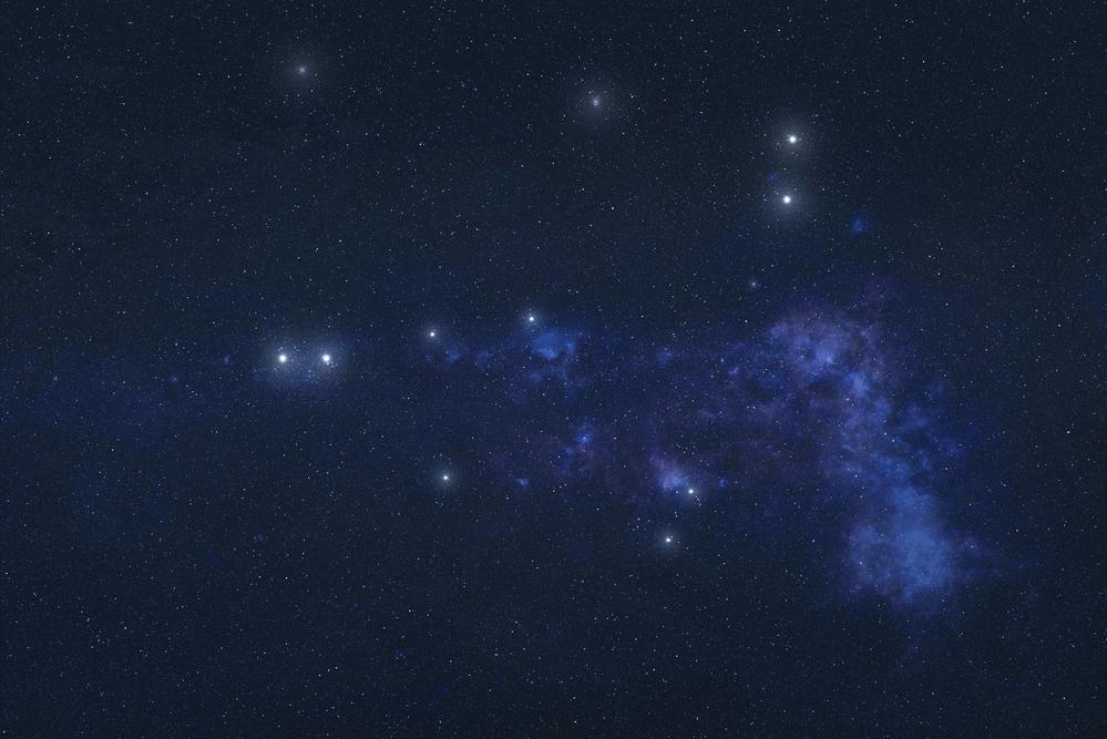 Capricornus constellation in outer space
