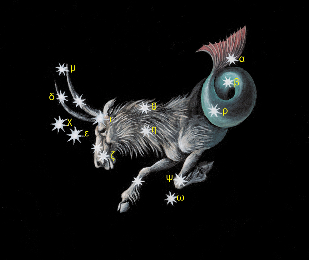 Sign on zodiac constellation The Sea Goat
